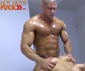 Straight muscle stud jock strips jerks off